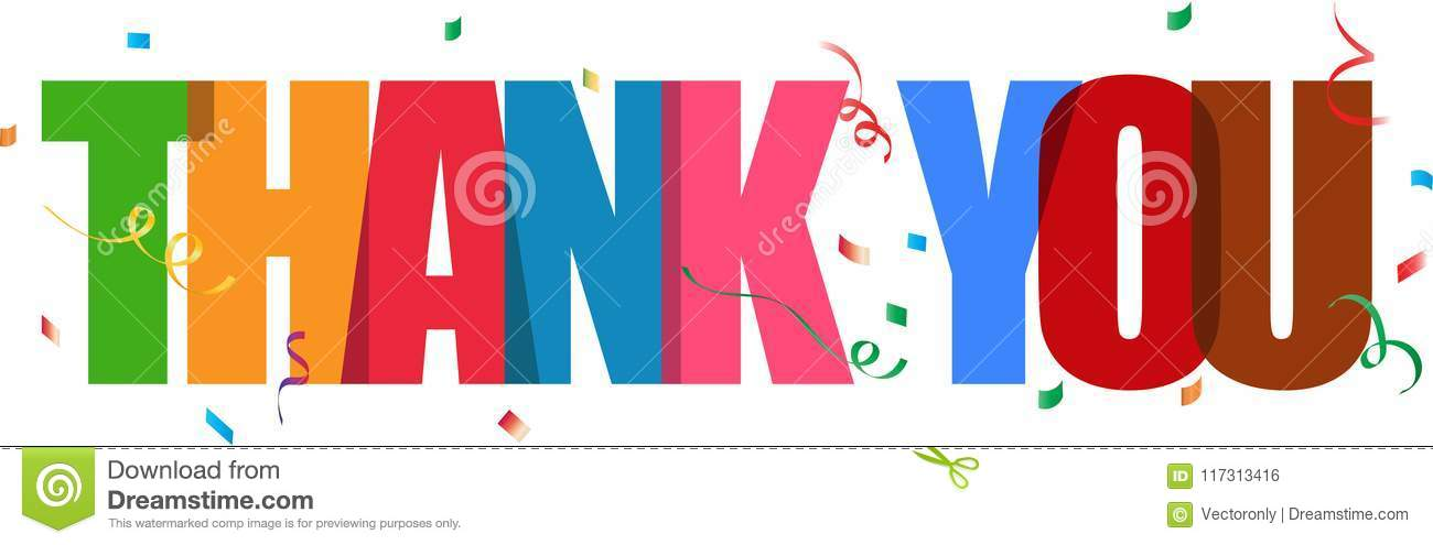 Thank you lettering confetti sign
