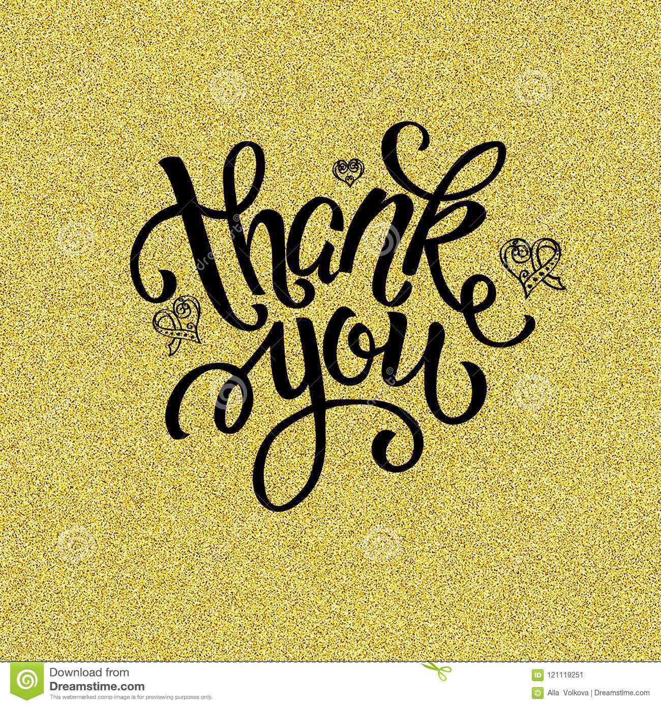 Thank You Lettering Design For Greeting Card Invitation Poster