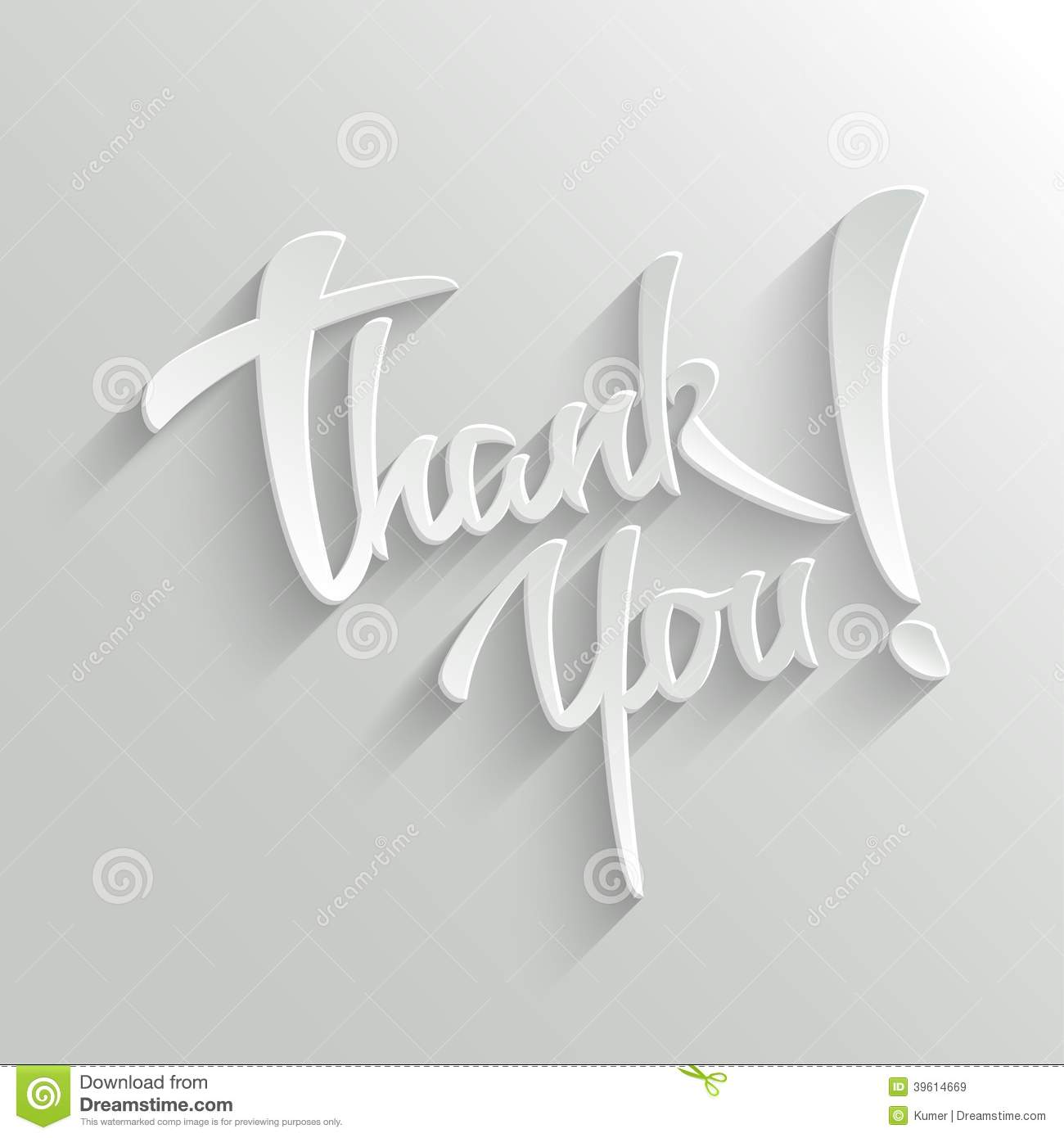 Thank You Lettering Greeting Card Stock Vector Illustration Of