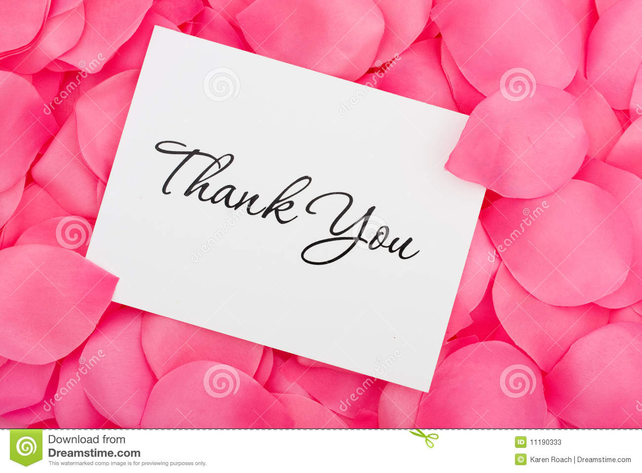 Thank You With Love Stock Photos Image 11190333