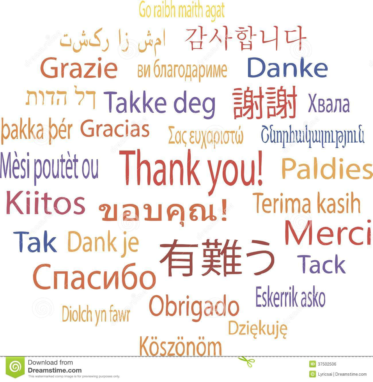 how to say thank you in multiple languages