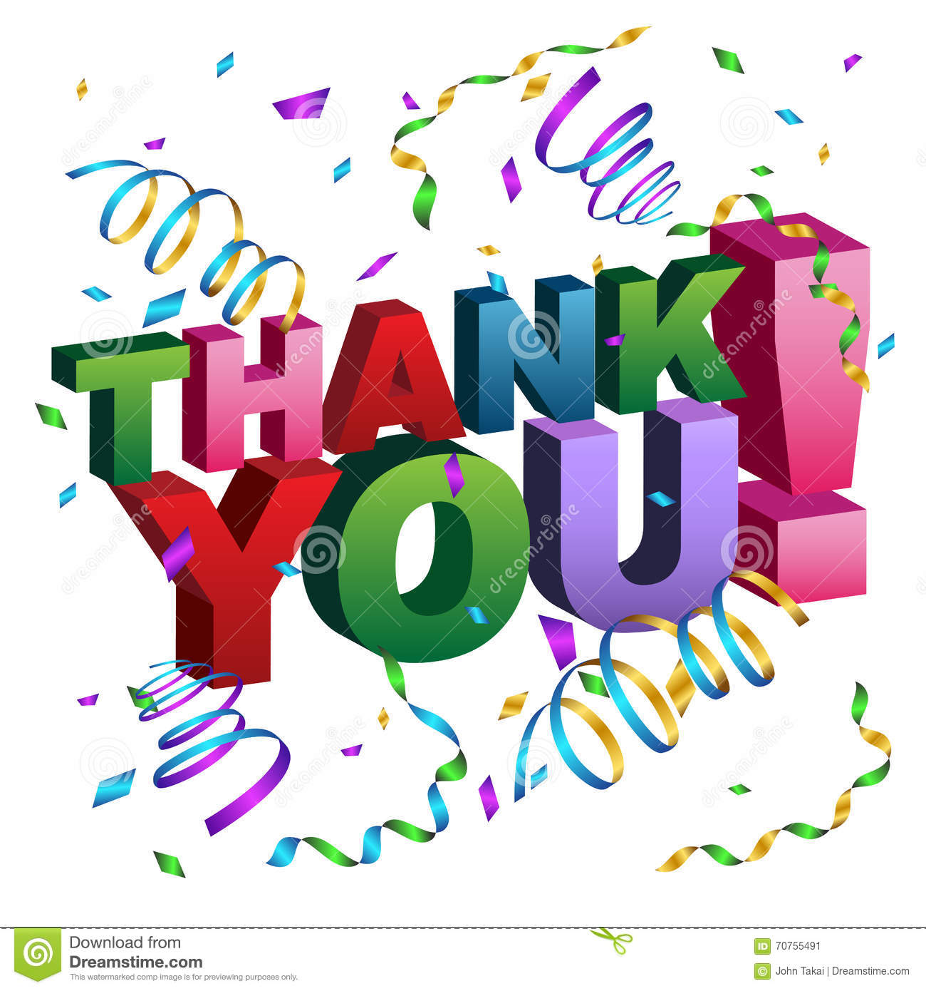 thank you message stock vector illustration of pink 70755491
