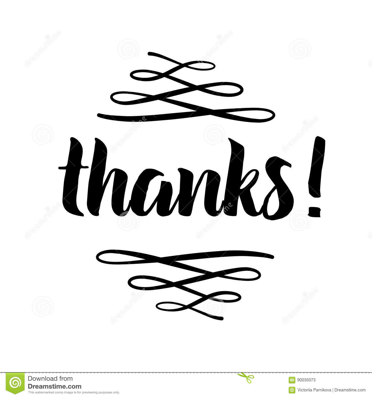 thank you phrase for social media hand drawn lettering photo