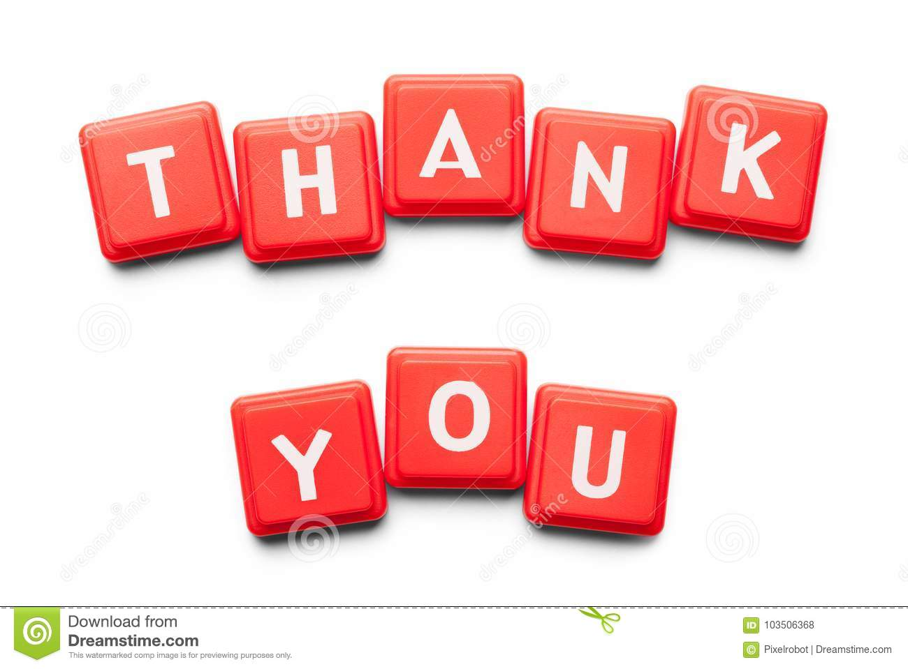 Thank You Plastic Tiles Stock Photo Image Of Thanks 103506368