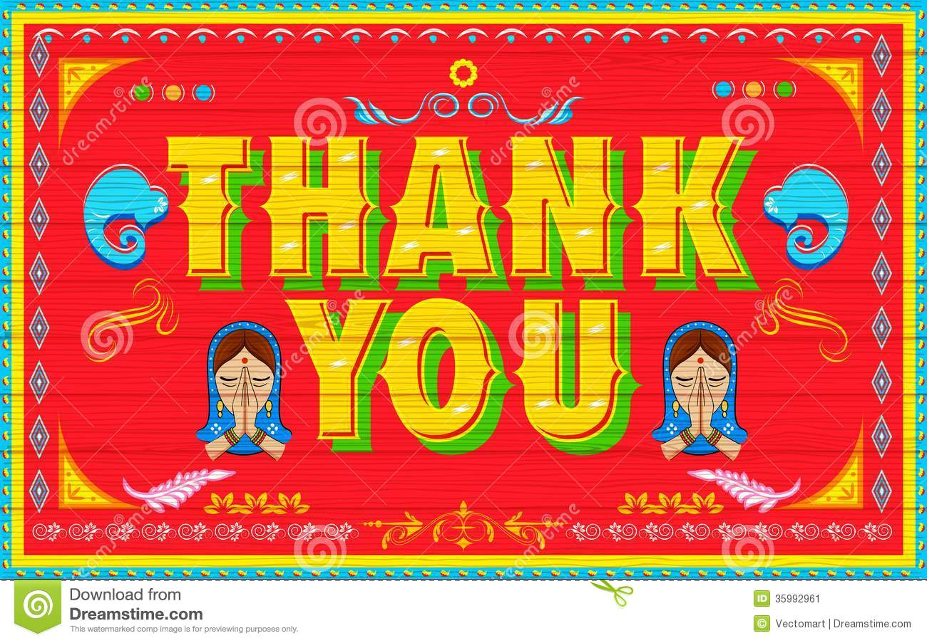 Thank You Poster Stock Image Image 35992961