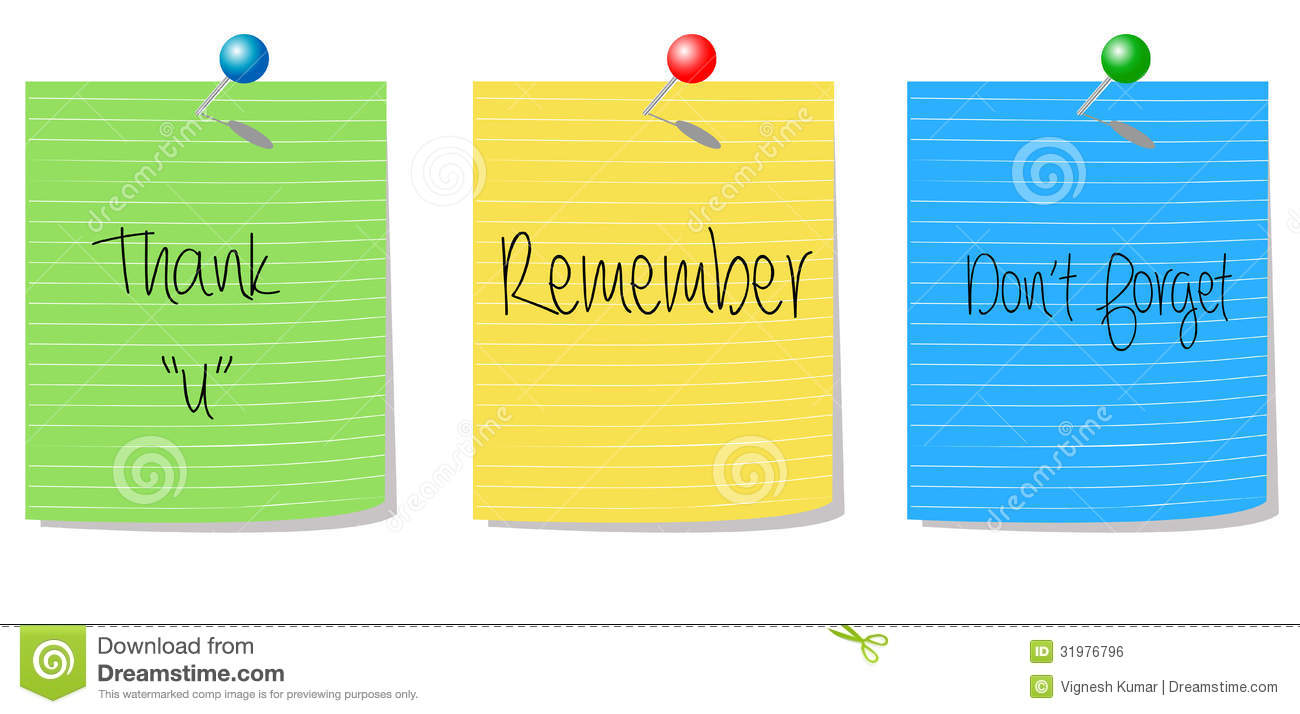... You Remember Don't Forget Royalty Free Stock Image - Image: 31976796