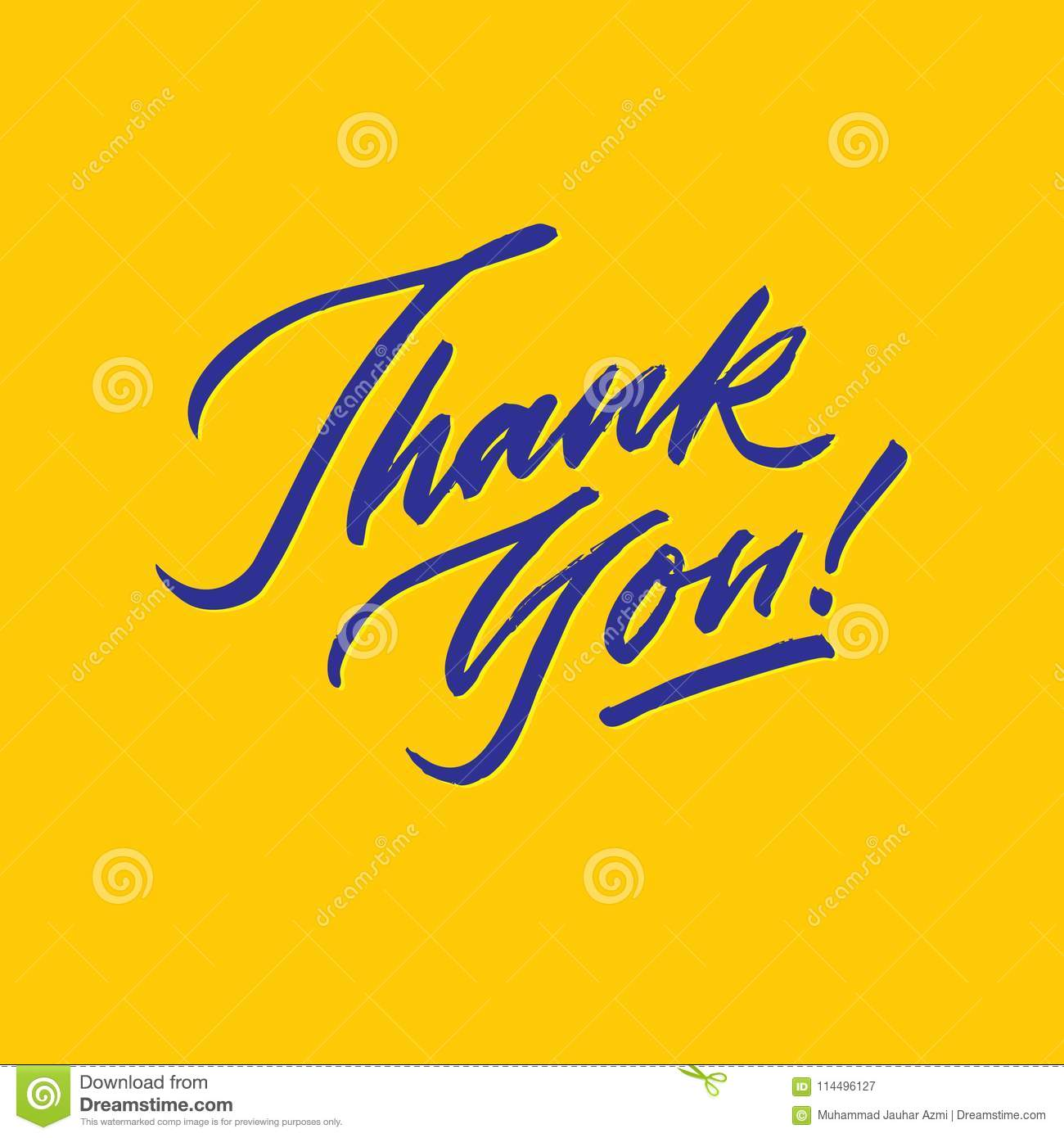 thank you roughen script hand lettering typography card poster stock