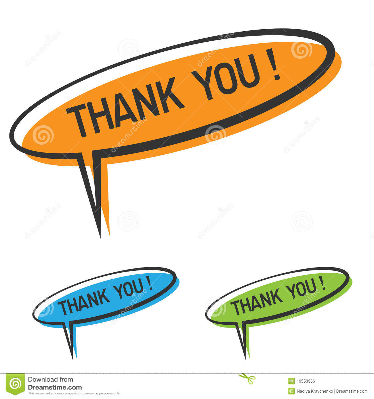 Download Thank you sign stock vector. Illustration of isolated - 19553366