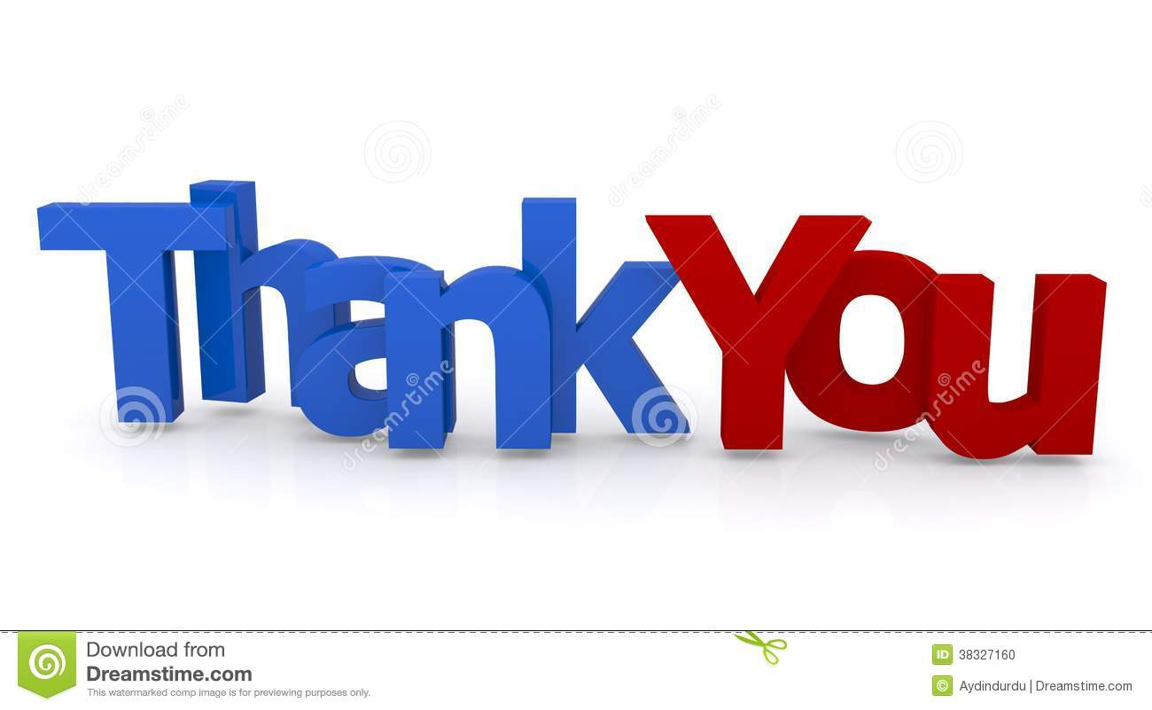 Thank you stock photos royalty free images thank you sign red and blue 3d letters spelling words thank you white background voltagebd Choice Image