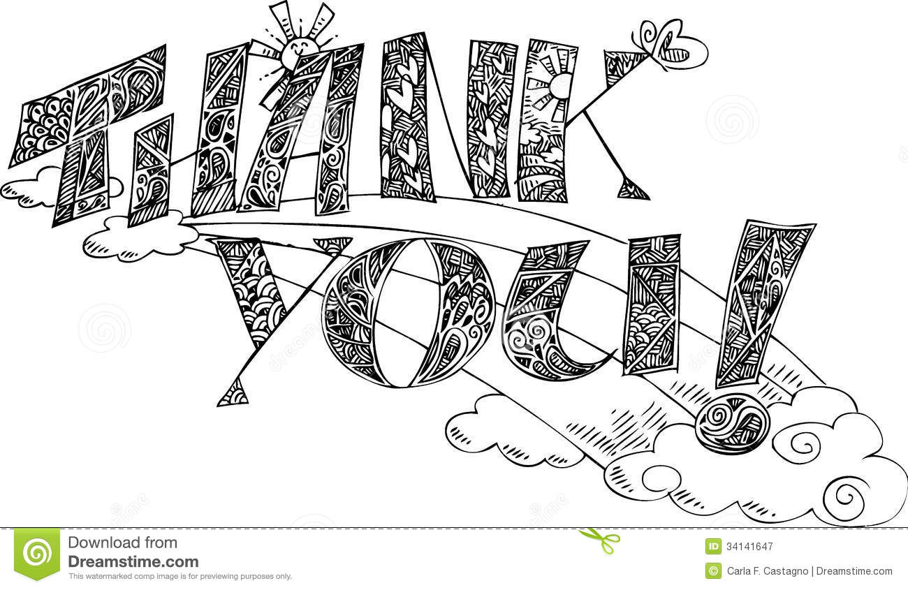 thank you doodle coloring pages - photo#3