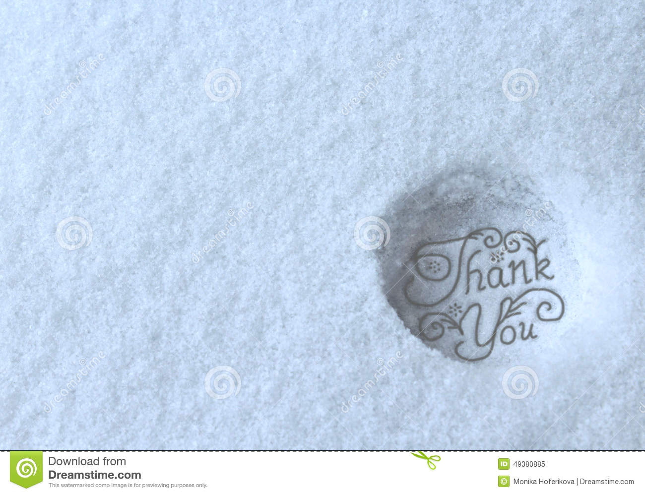 Thank You Stamped In Snow Stock Illustration Image 49380885