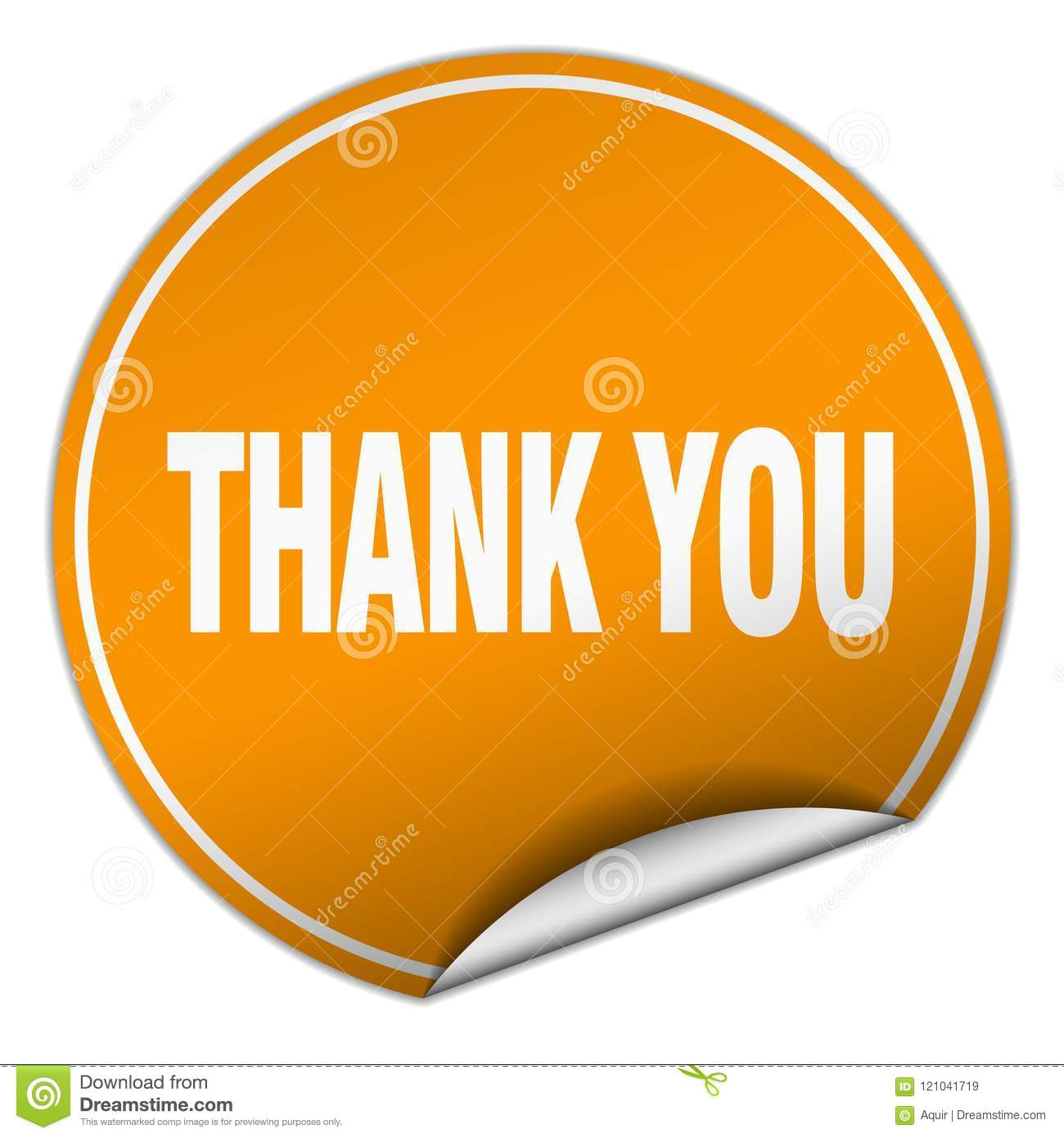 thank you sticker stock vector illustration of template 121041719
