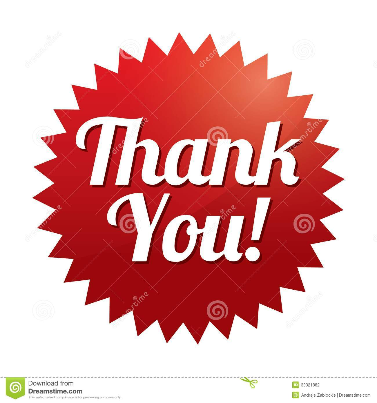 Thank You Tag vector Red Sticker Icon For Web Stock