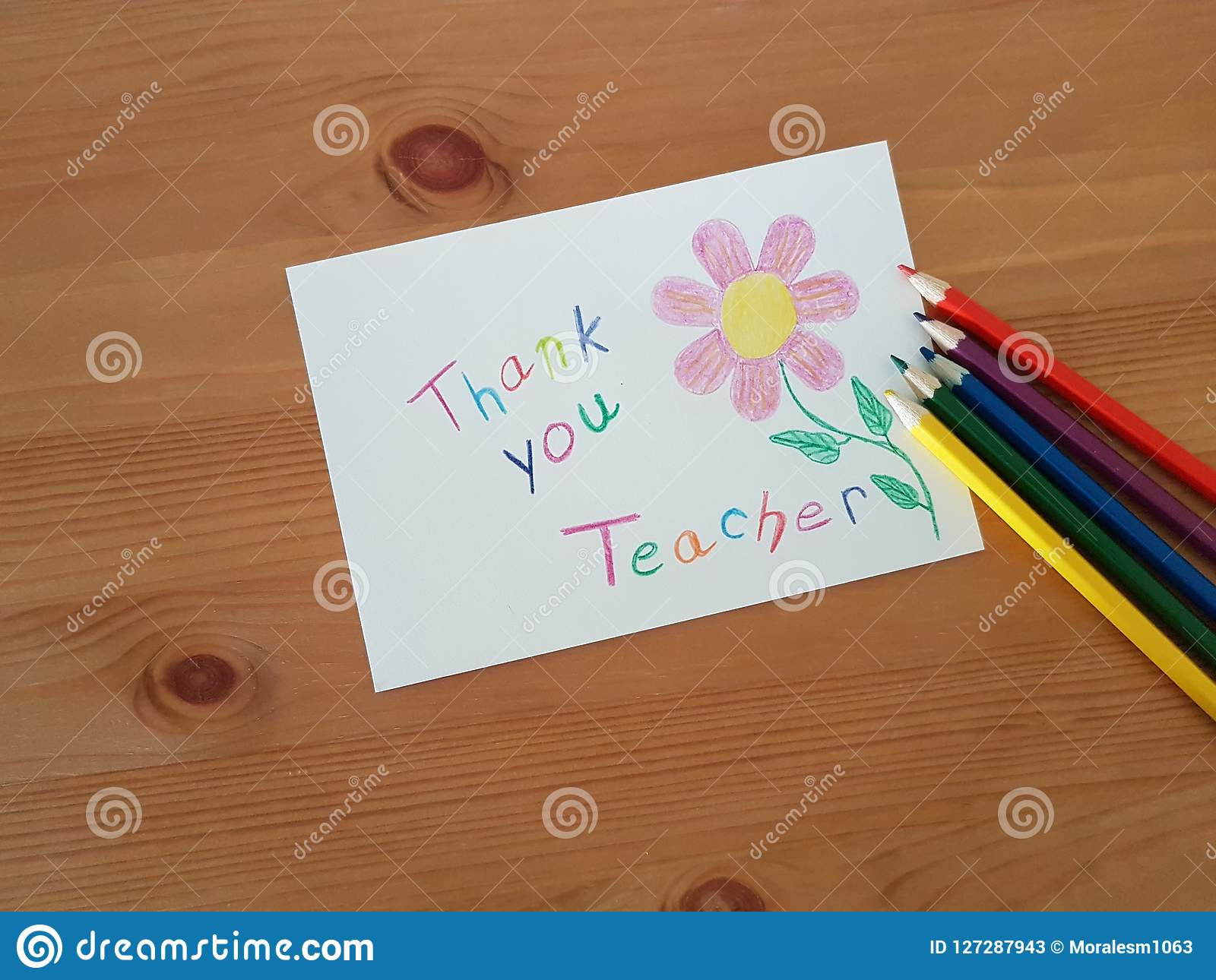 Thank you teacher stock image image of days best markers 127287943