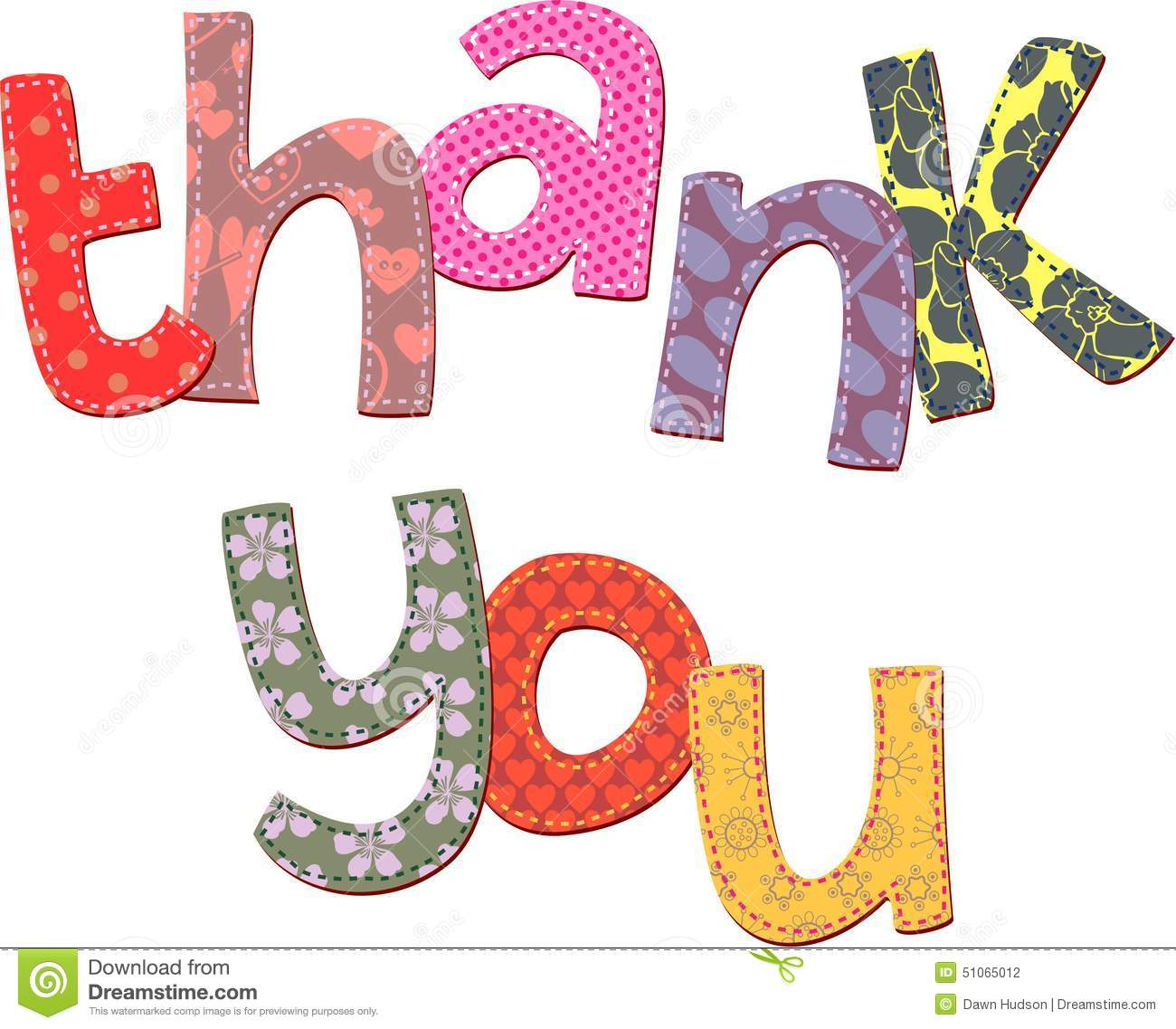 thank you text clip art illustration 51065012 megapixl