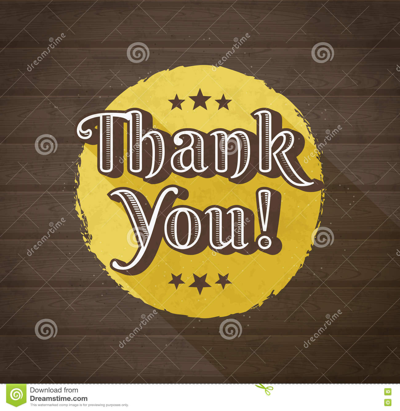 Thank You Typographic Design Stock Vector Image 74061693