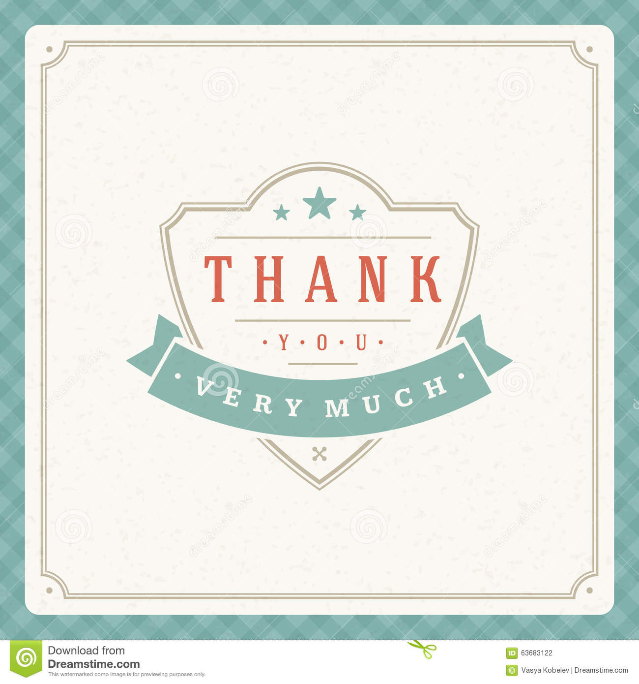 Thank you typography message vintage greeting card stock vector thank you typography message vintage greeting card m4hsunfo