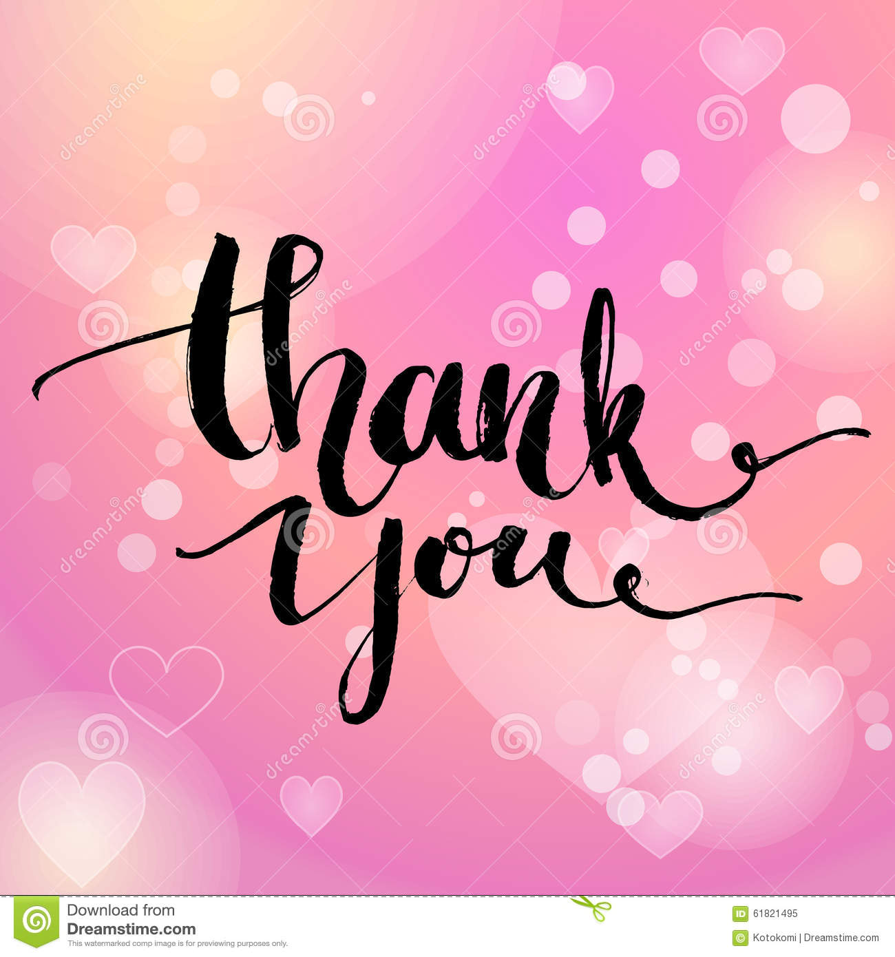 Thank You Vector Typography Design For Cards Stock Vector