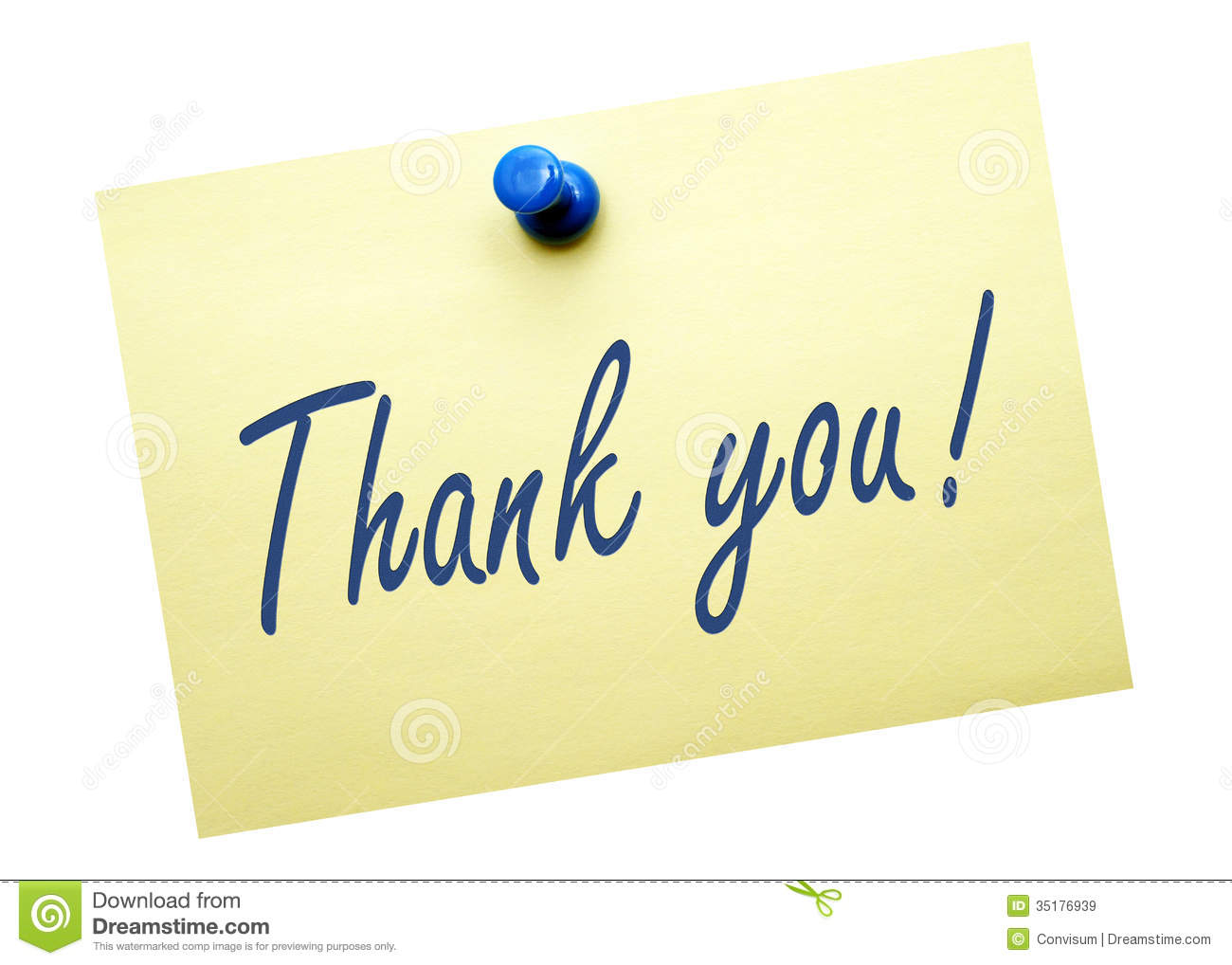 Thank You Yellow Post It Note Royalty Free Stock Images - Image ...