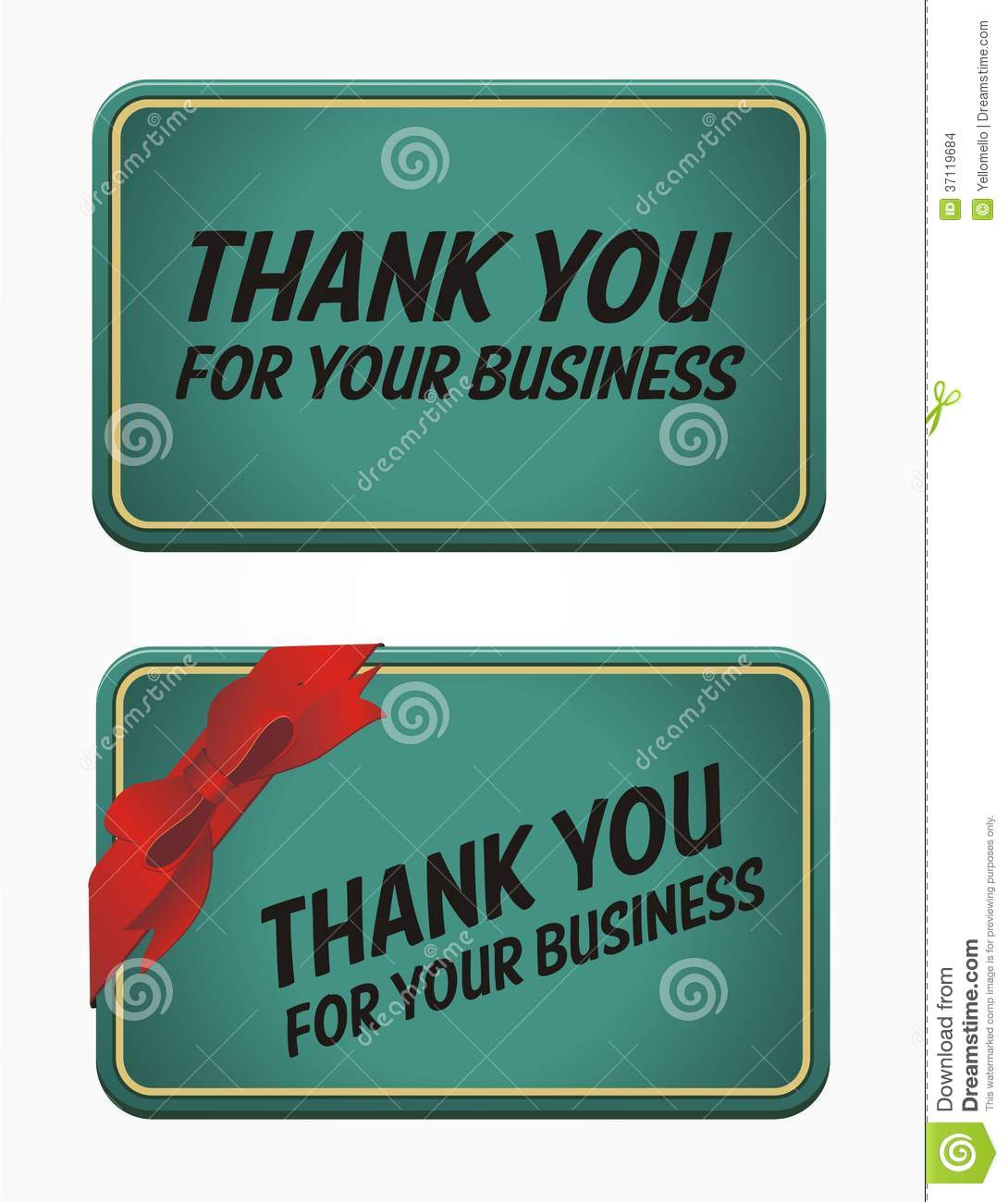 thank you for your business card stock images  image: 37119684