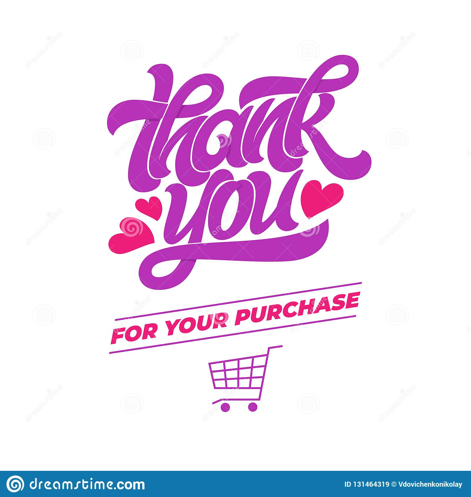 Thank You For Your Purchase Vector Typography For Banner Poster