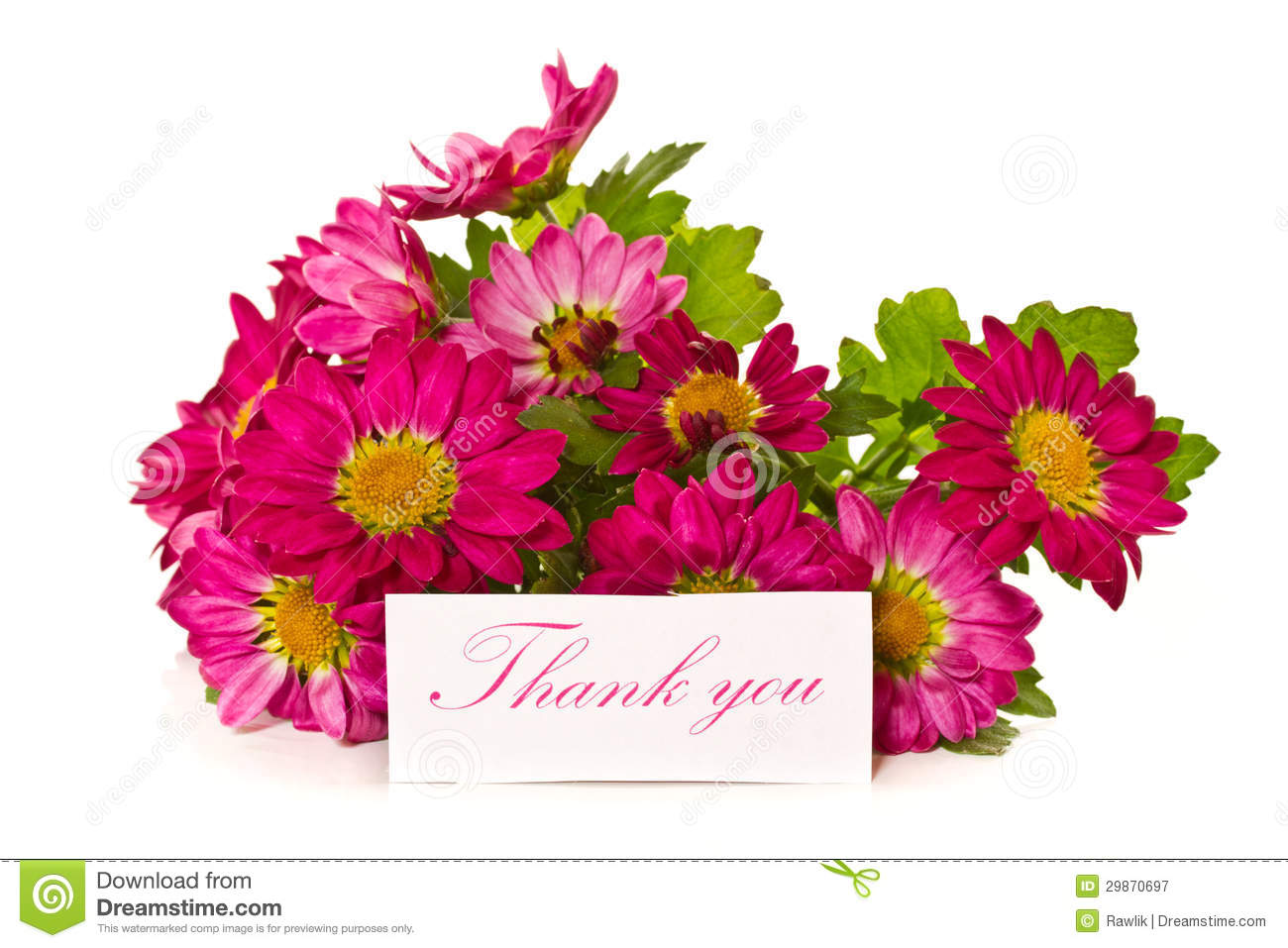 Thanks with flowers stock image. Image of color, beauty - 29870697