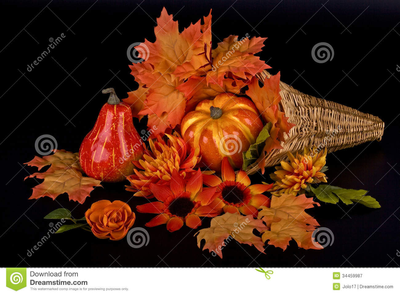 thanksgiving artificial decoration stock image image of fall