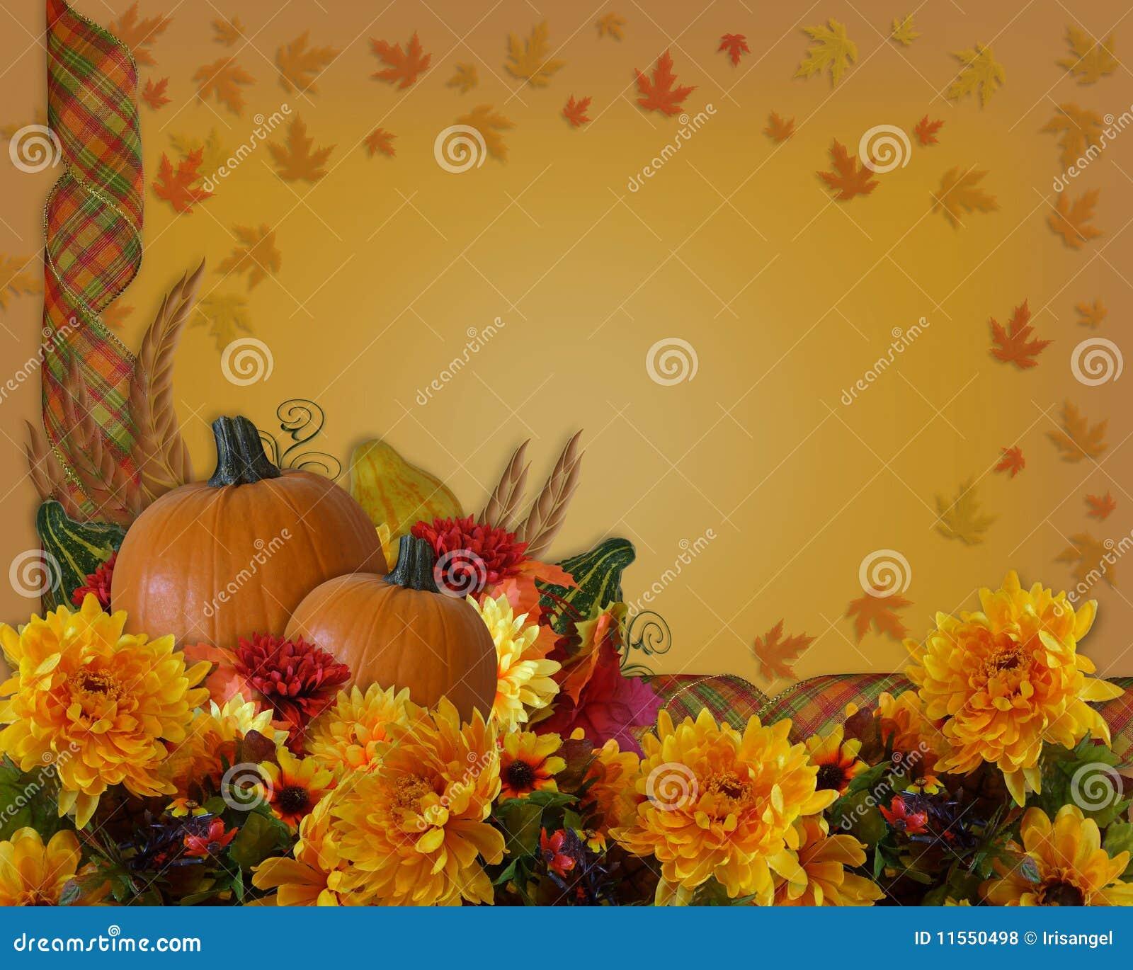 Fall Wallpaper Images Free: Thanksgiving Autumn Background Border Stock Illustration