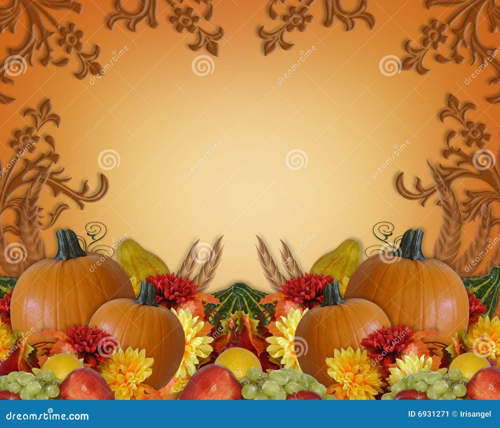 Thanksgiving Autumn Fall Background Stock Illustration