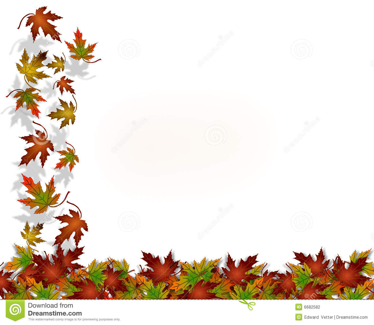 Thanksgiving Autumn Fall Leaves Stock Photography Image