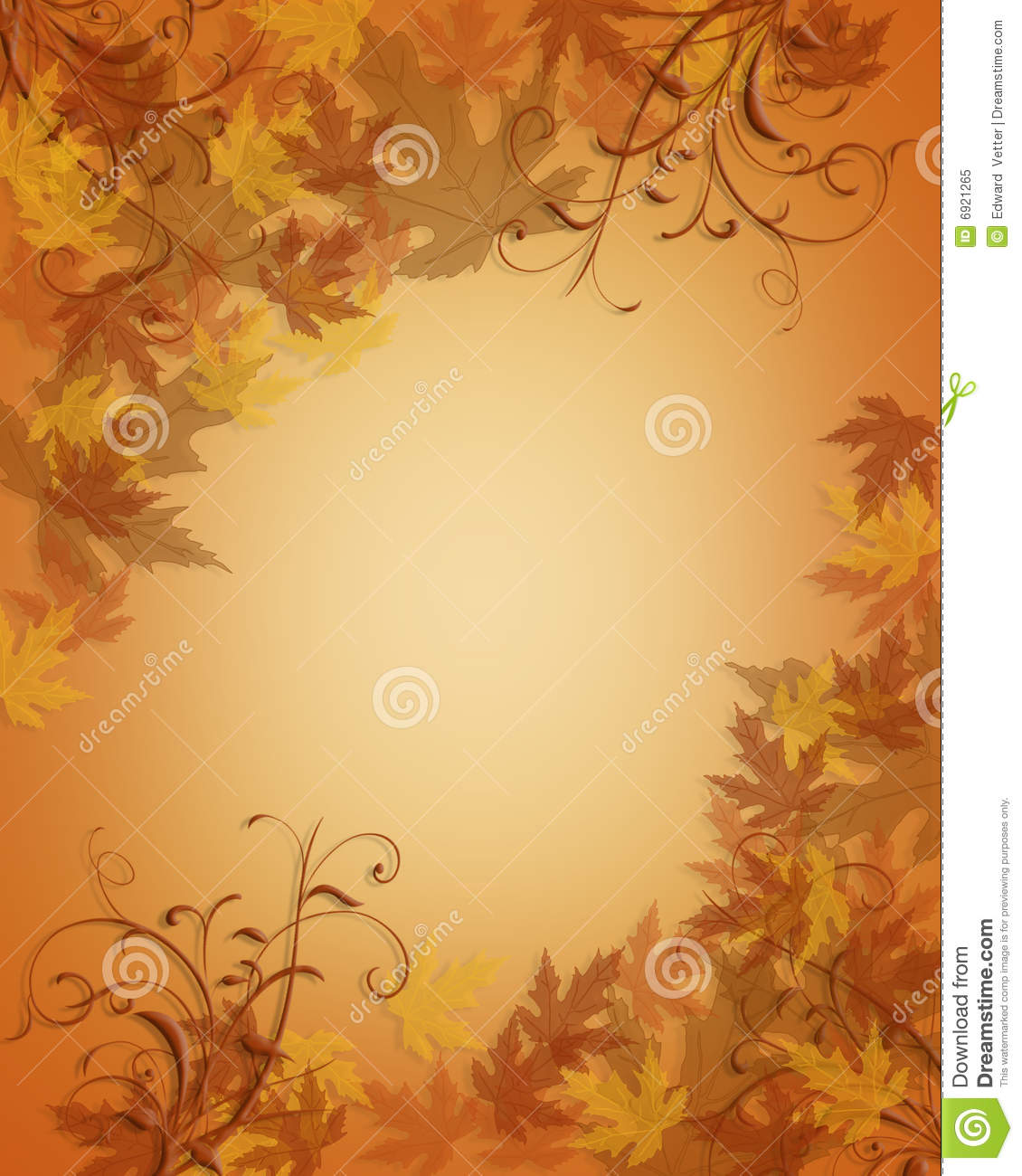Thanksgiving Autumn Fall Leaves Background Stock Illustration