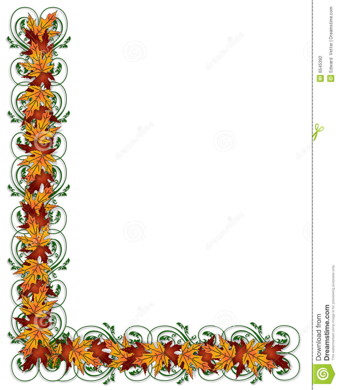 Free Clip Art Fall Borders Thanksgiving autumn fall