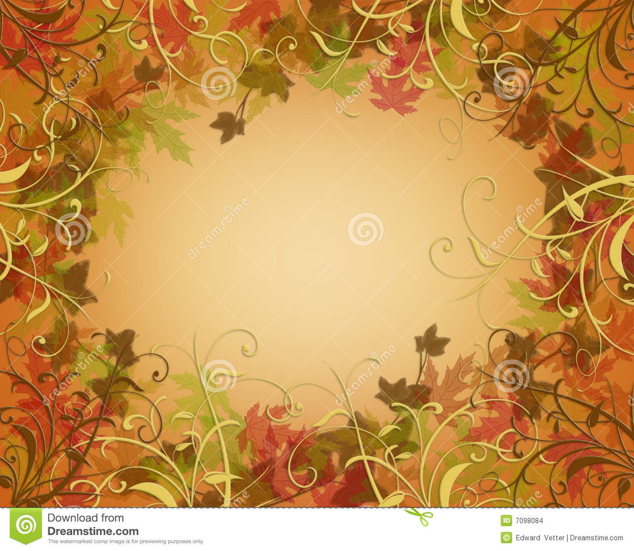 Illustration composition for Thanksgiving, autumn, fall, invitation ...