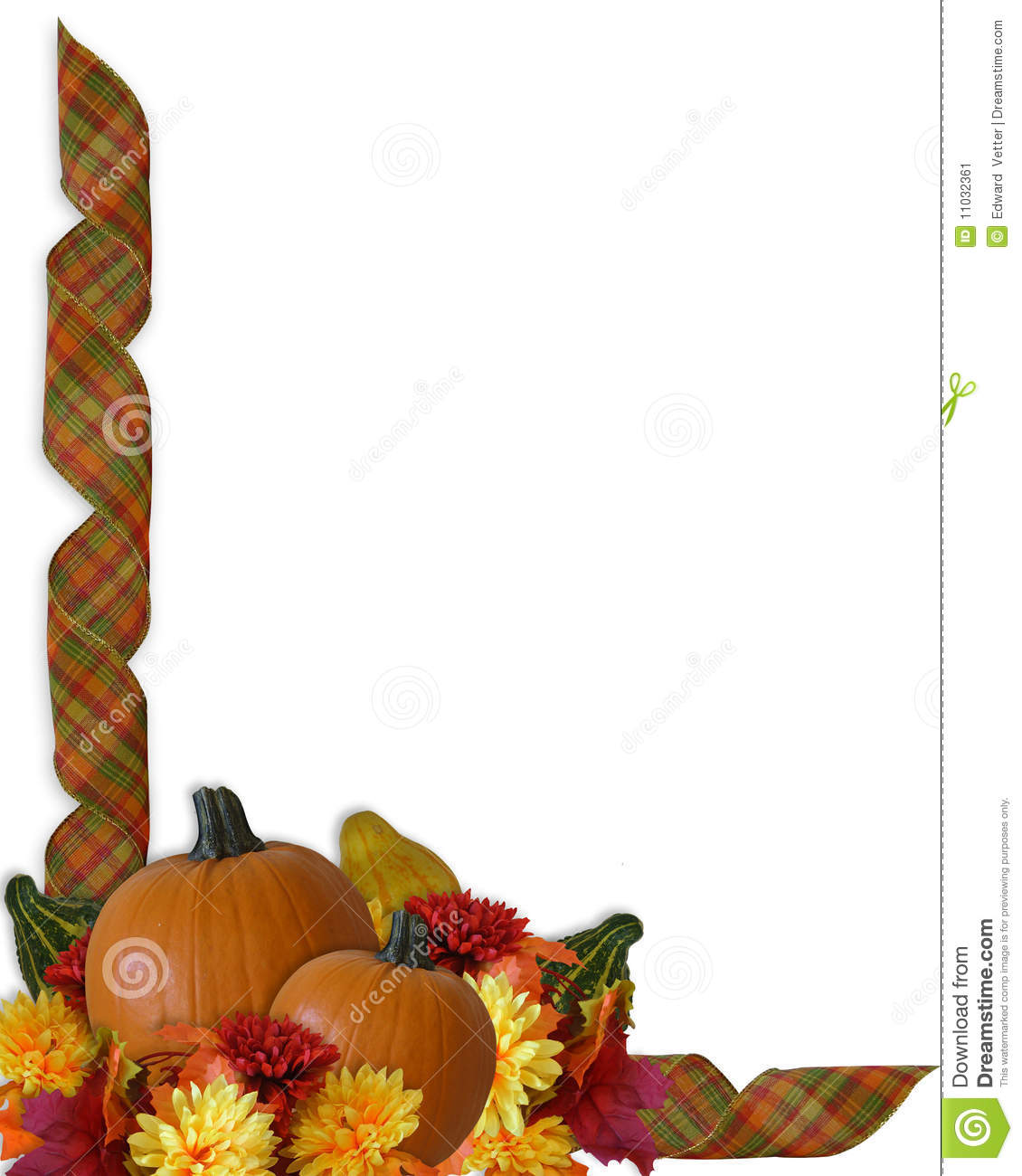 Free Online Architecture Design Thanksgiving Autumn Fall Ribbons Border Stock Image