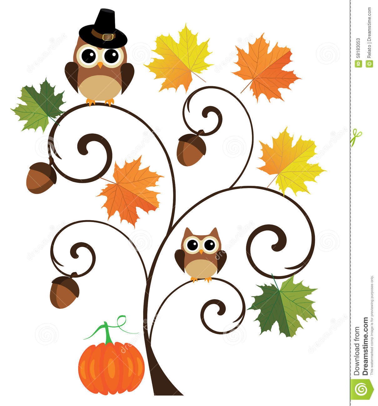 thanksgiving background stock vector image 58183053 Reading Owl Clip Art Owl Family Clip Art
