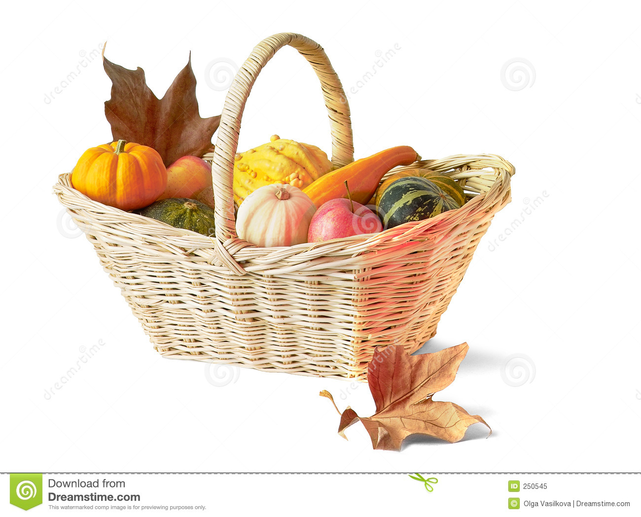 Thanksgiving Basket Royalty Free Stock Photo