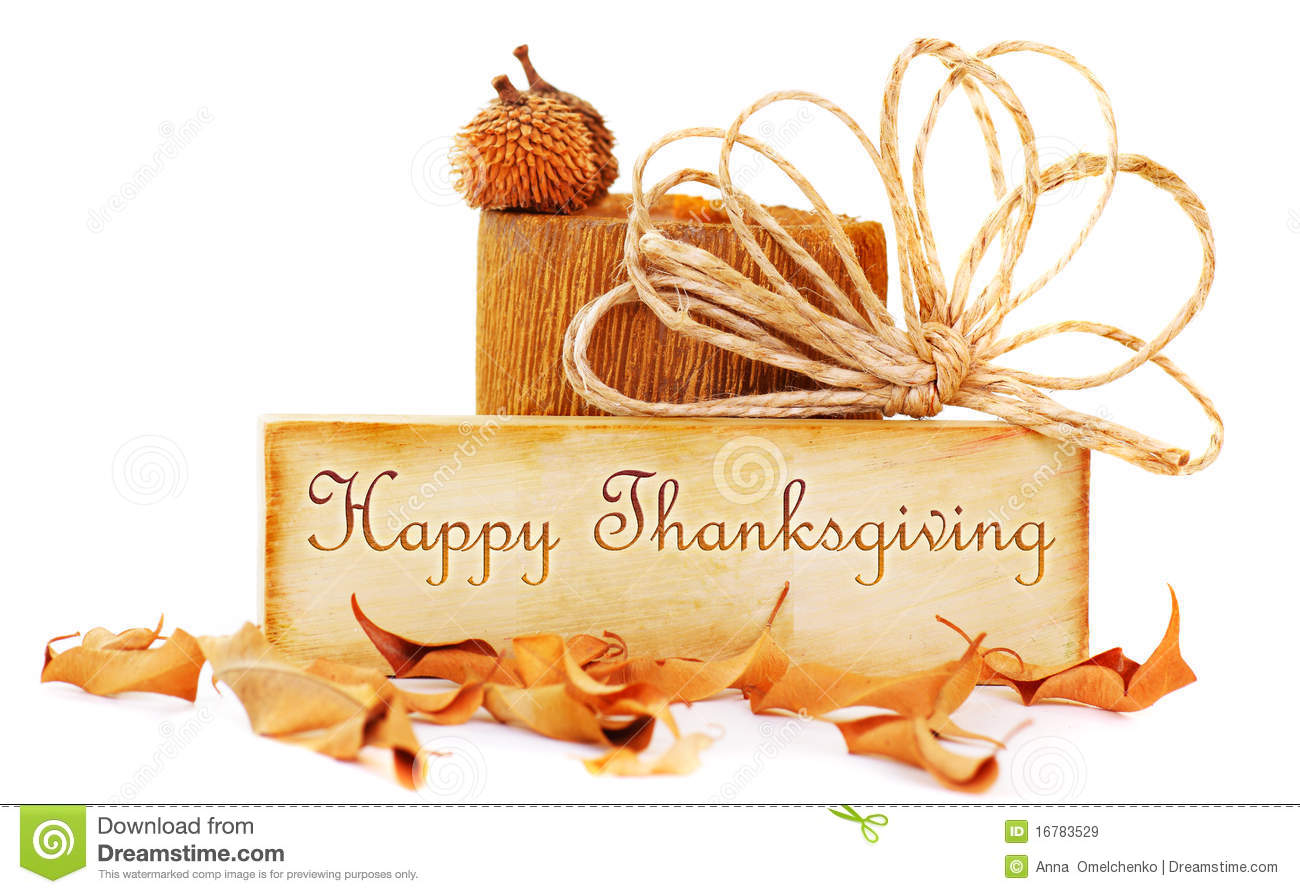 Give thanks message hanging from pegs on a line for thanksgiving thanksgiving card royalty free stock images kristyandbryce Choice Image
