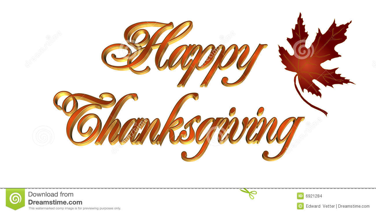 thanksgiving card 3d text stock illustration  image of