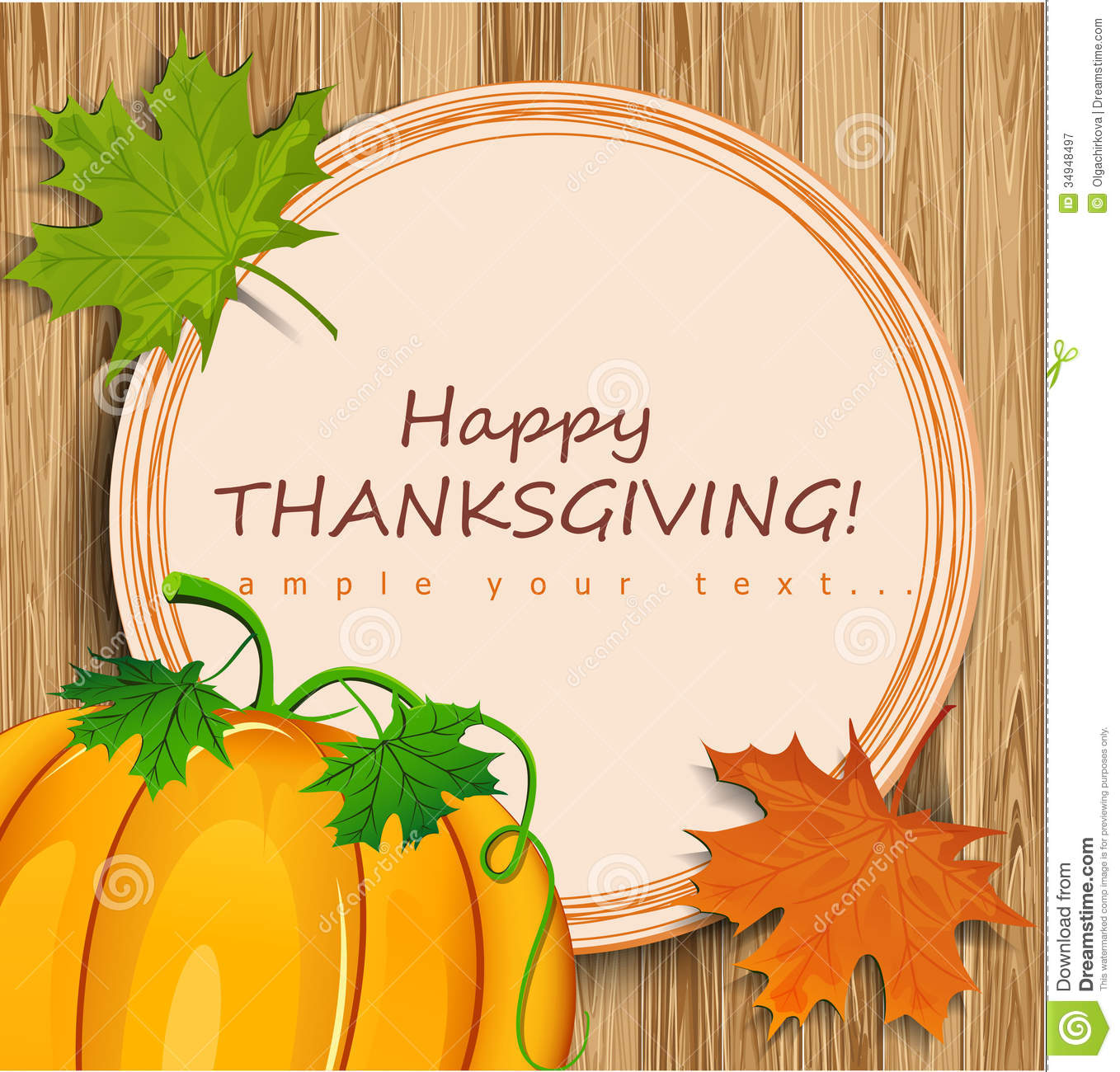 Thanksgiving Card Royalty Free Stock Photography Image