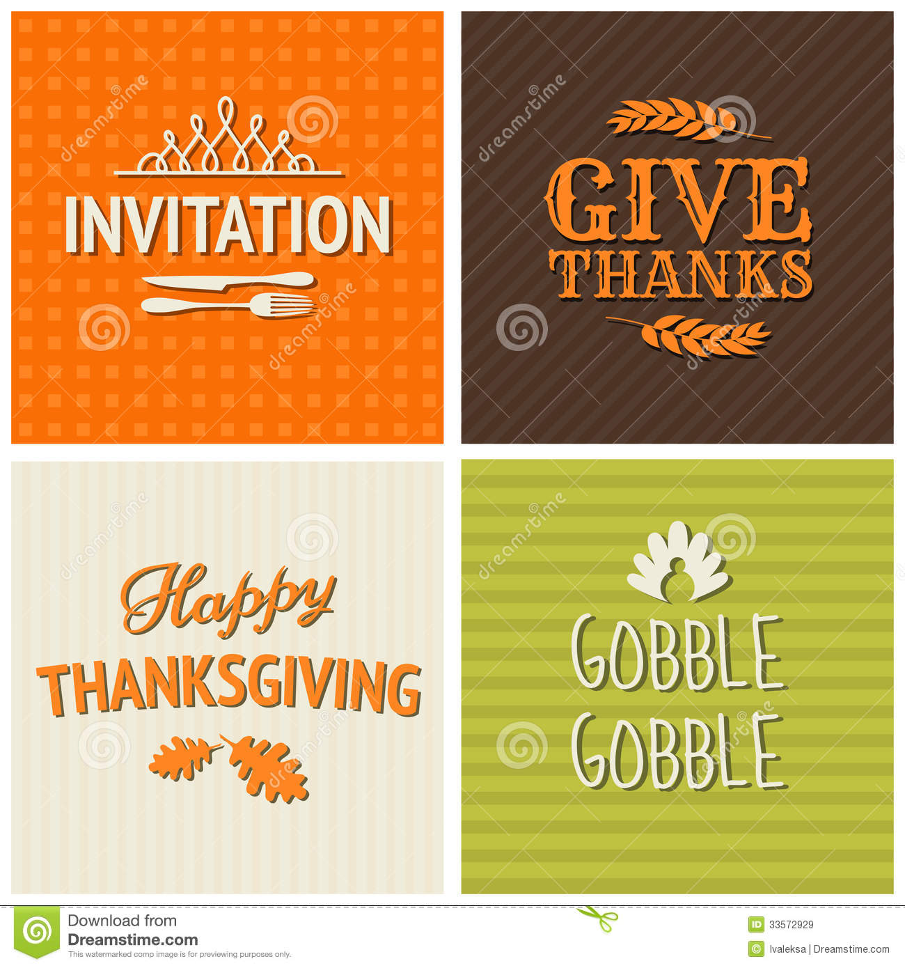 Thanksgiving Cards Collection Royalty Free Stock Images ...