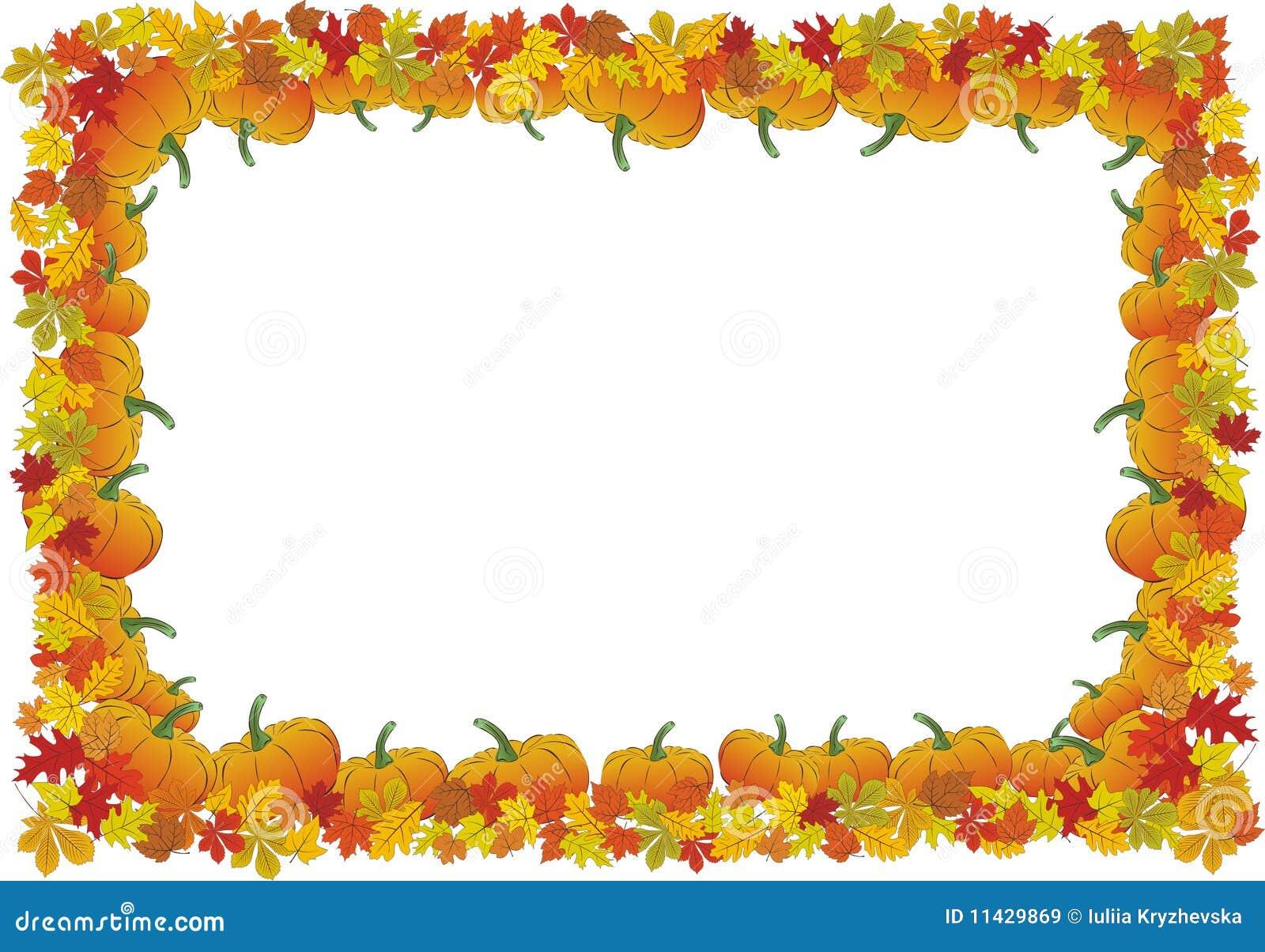 thanksgiving day autumnal vector frame stock vector illustration