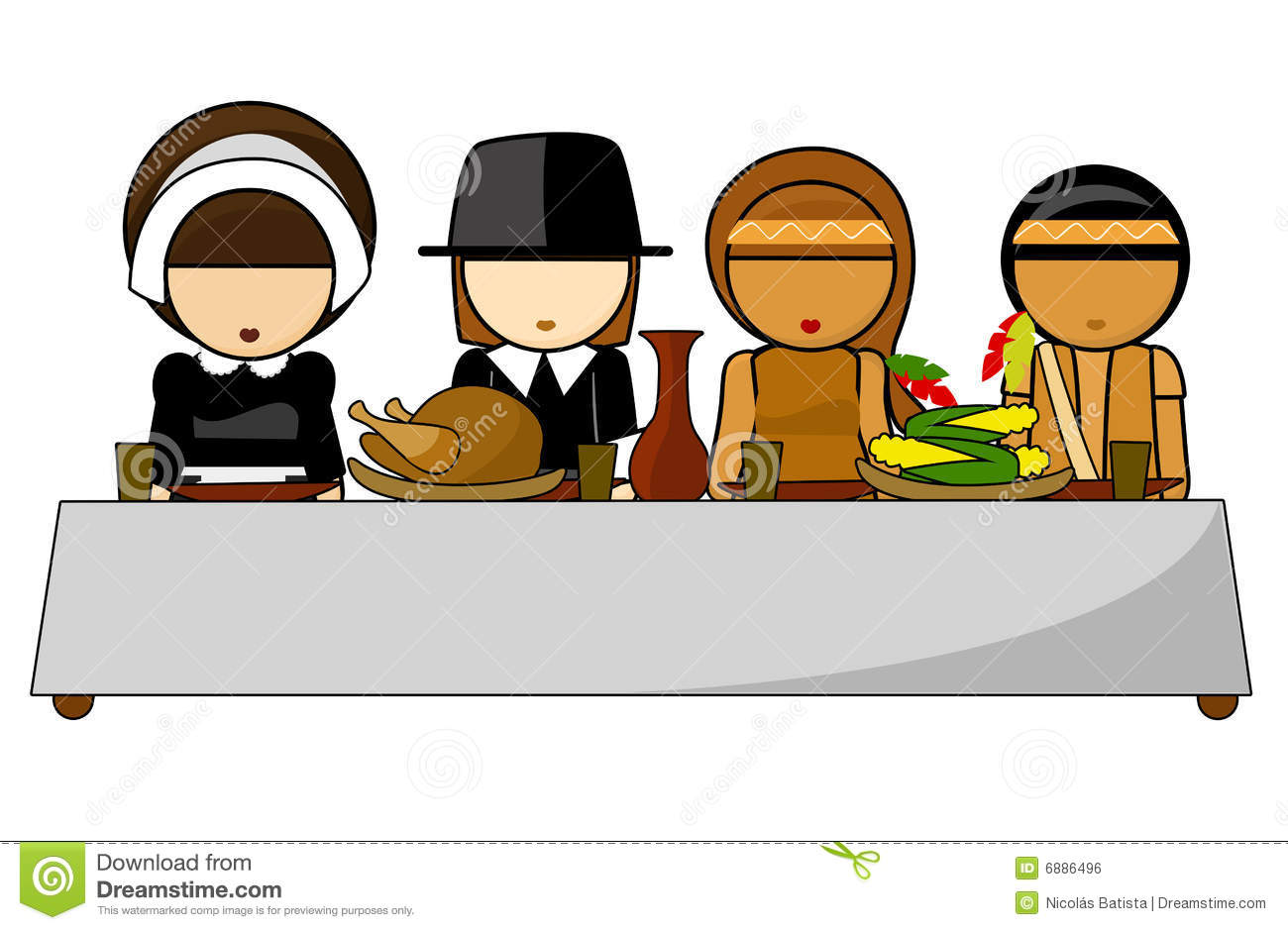 clipart thanksgiving table - photo #28