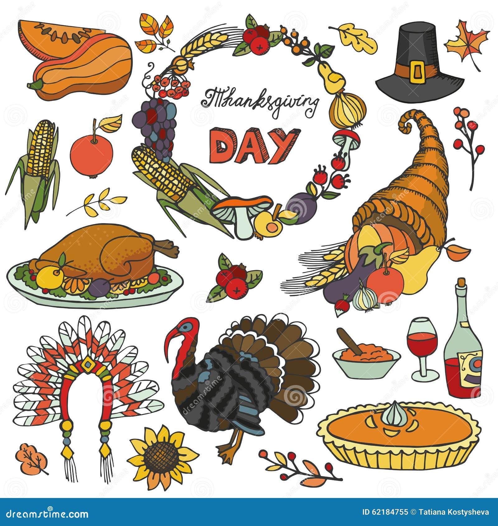 thanksgiving day doodle icons wreath colorful set stock pilgrim hat clip art pilgrim hat clip art free images