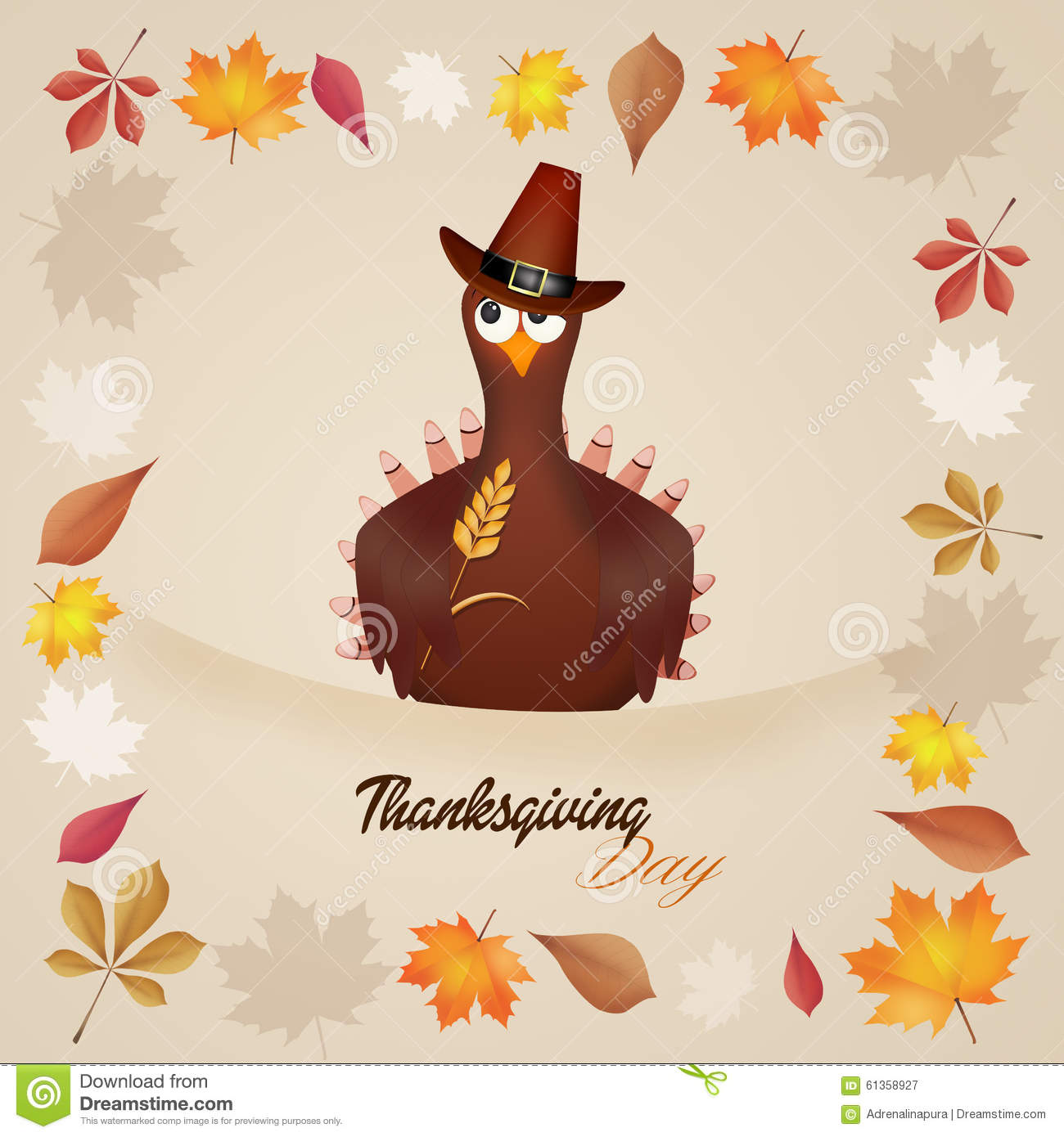 Thanksgiving Day Stock Illustration - Image: 61358927