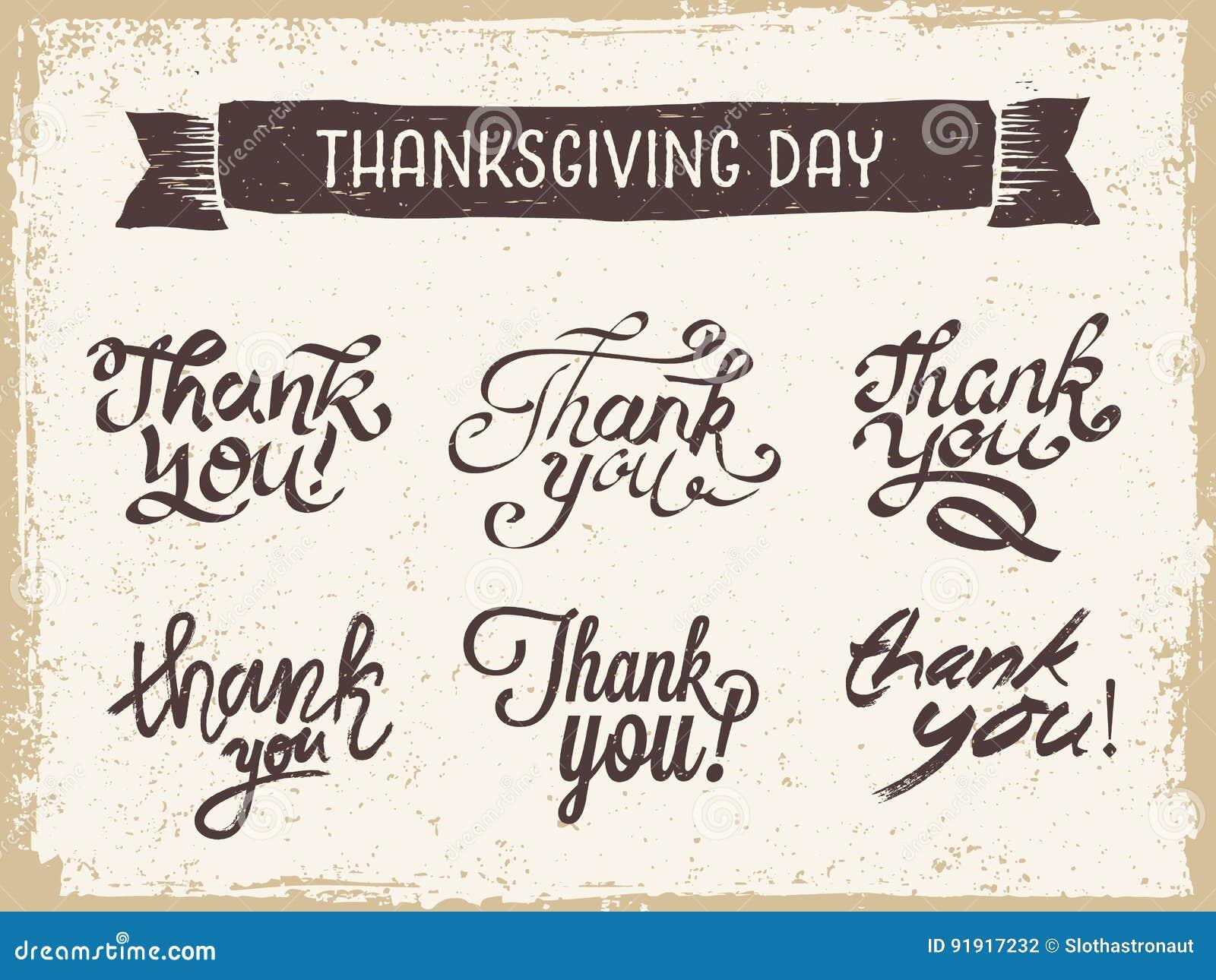 Thanksgiving day het Van letters voorzien