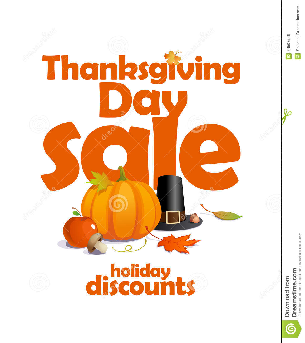 Thanksgiving Day Sale Design Stock Vector Illustration Of Poster Discounts 34508546