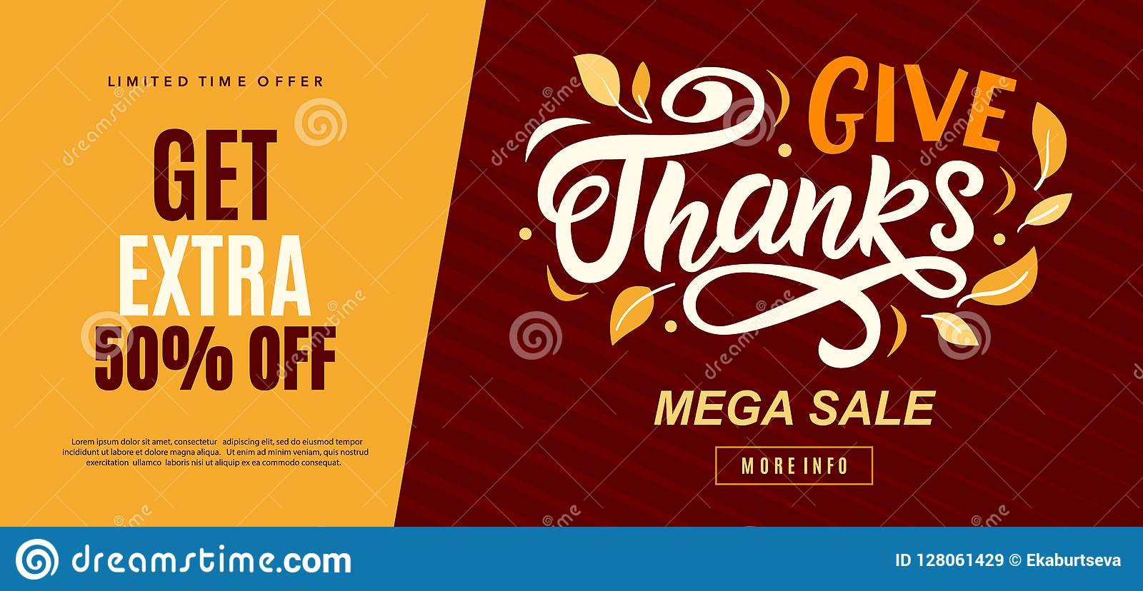 thanksgiving day sale web banner template give thanks promo offer