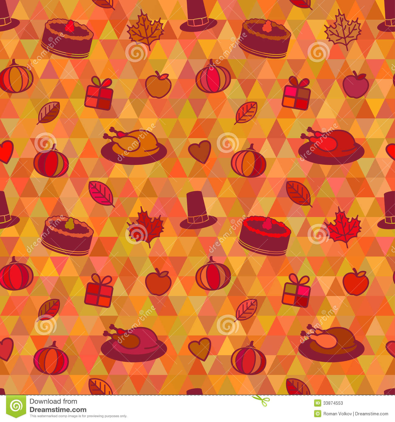 Thanksgiving Day Seamless Pattern Stock Vector ...