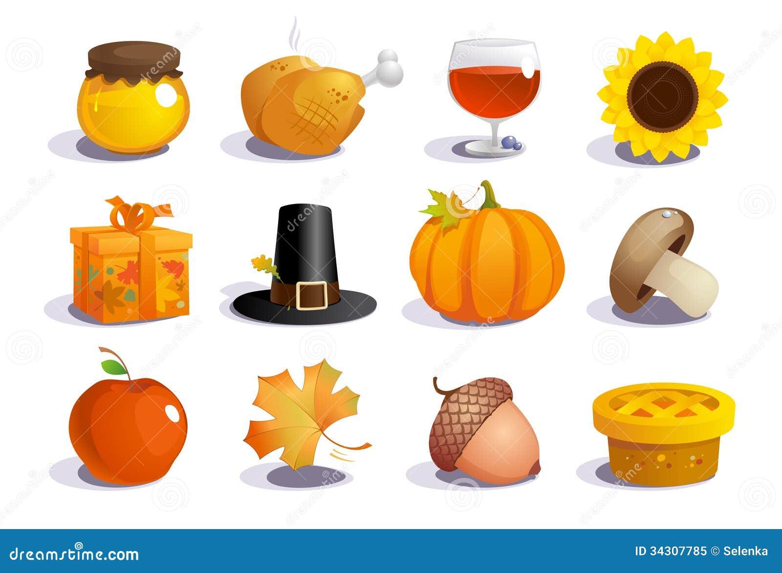 Thanksgiving Day Symbols Royalty Free Stock Photo Image