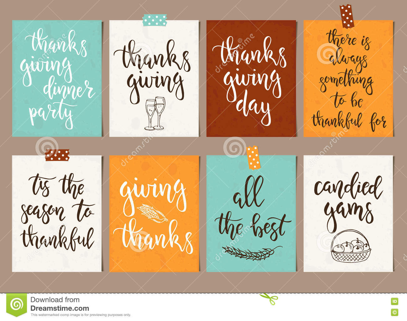Thanksgiving Day Vintage Gift Tags And Cards With ...